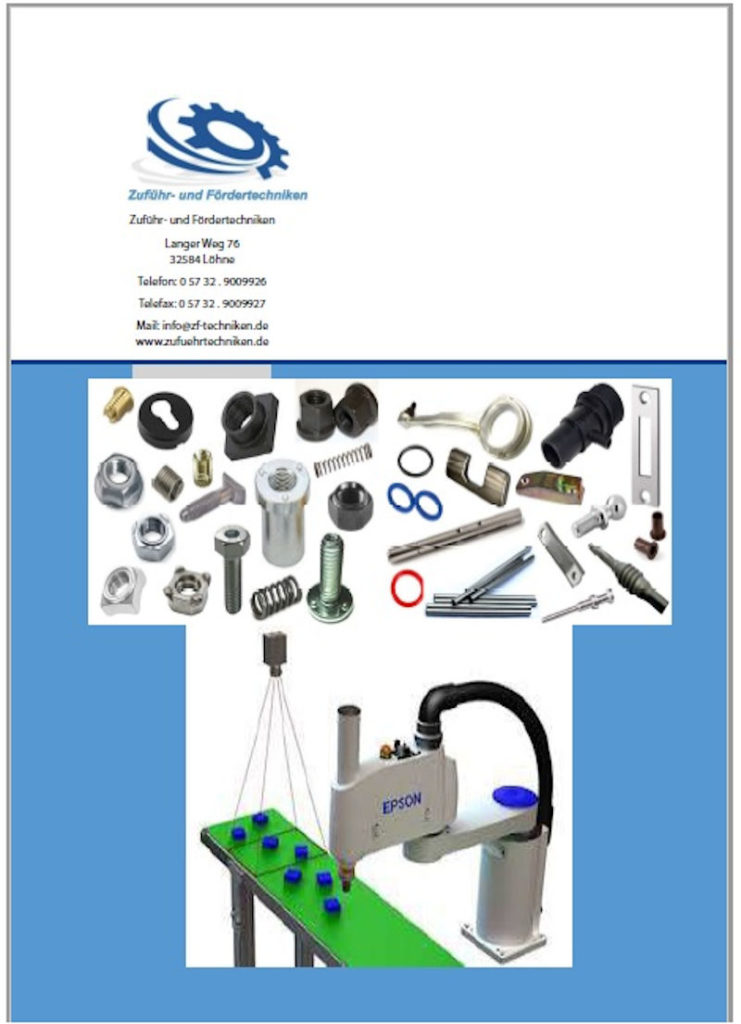 Modulare Zuführ- und Handhabetechnik - ZF-Techniken