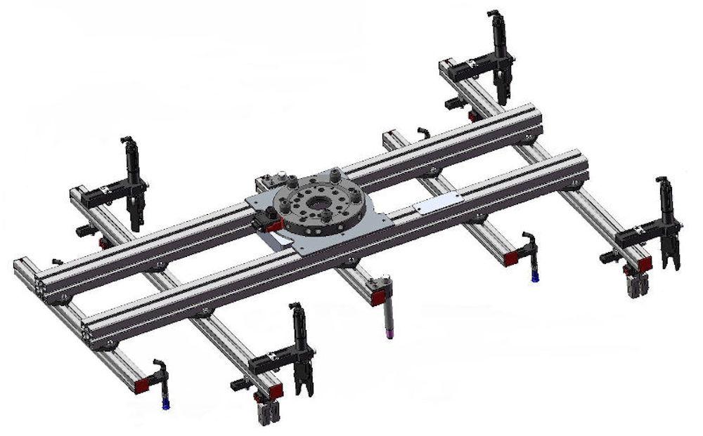 Spritzgussmaschine-Roboter-Robotergreifer-Einlegesystem