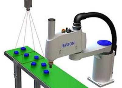 Zuführen über Bildverarbeitung Roboter und Kamera